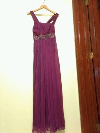 Vestidos de noche color bugambilia