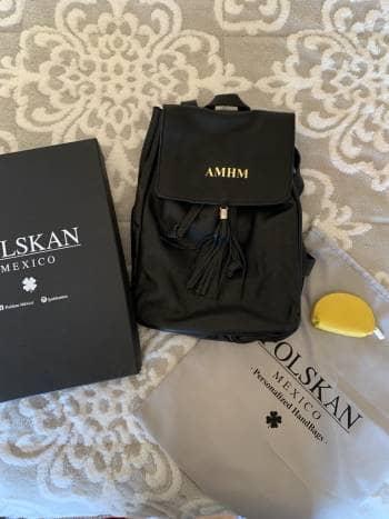 Backpack negra 100% piel