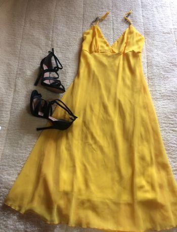 Vestido fiesta amarillo