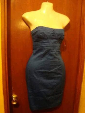 Vestido tubo azul electrico