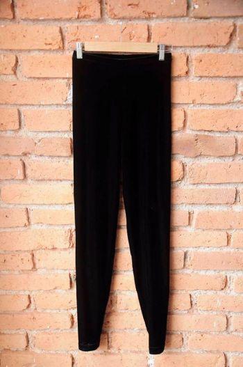 Leggings de velvet negro