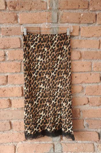 Falda tubo leopardo