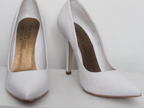 Zapatos altos white