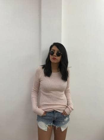 Sueter rosa claro