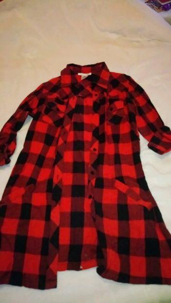 Camisa cuadros color rojo