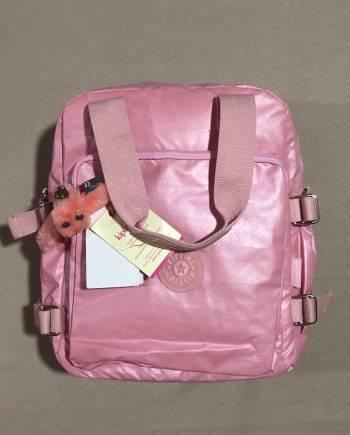 Bolsa Kipling rosa metalico