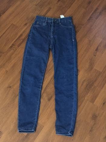 Jeans azules high waist