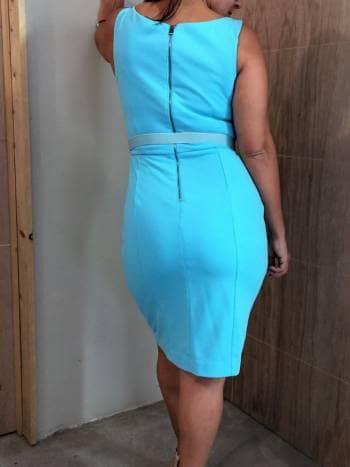 c907ba0c53 Vestido Casual Azul turquesa - GoTrendier - 818472