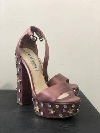 Zapatos satin rosas