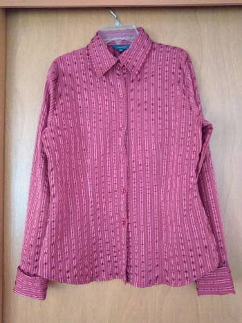 2️⃣✖️1️⃣ Camisa de rayas vino