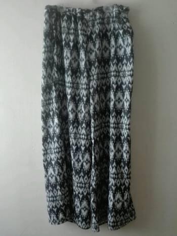 Pantalon ancho elastico en cintura