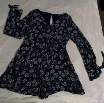 Vestido short azul