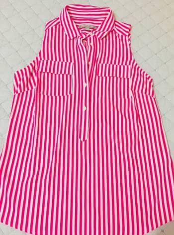 Blusa Banana Republic rayas rosa!!!