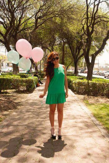 Vestido corto verde