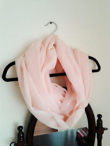 Foulard pashmina rosa nude