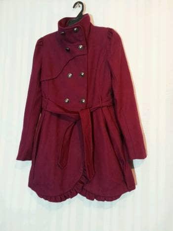 Abrigo largo guinda