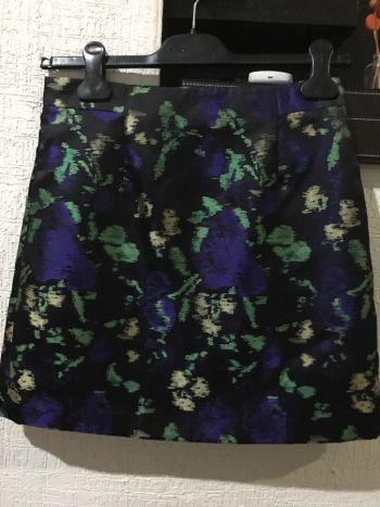 Falda corta multicolor