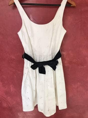 Vestido blanco A&F
