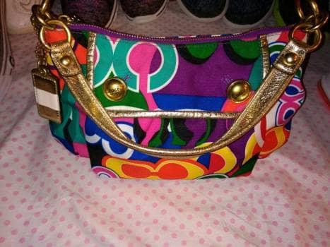 Bolsa COACH multicolor