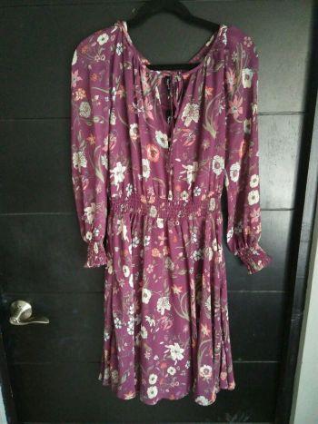 Vestido floral de gasa