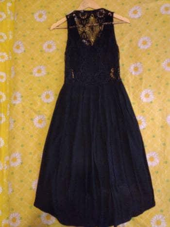 6b68c2ca9 Vestido negro cola de pato tejido en la espalda - GoTrendier - 1334655