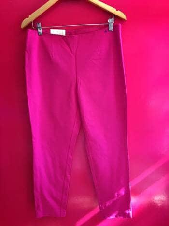Pantalon rosa mexicano cintura alta