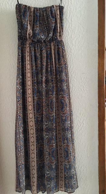 Vestido largo strapless