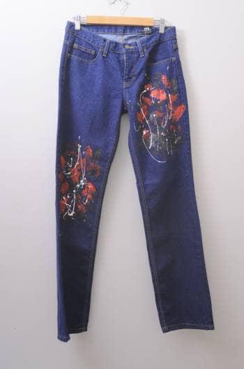 Jeans con pintura