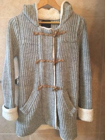 Sueter/abrigo con gorro