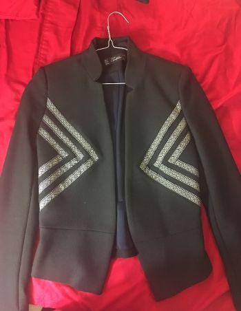 Blazer Zara Negro c/Gris