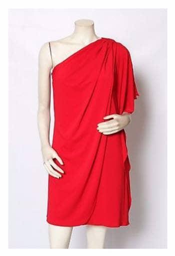 Vestido rojo Belle Badgley Mischka