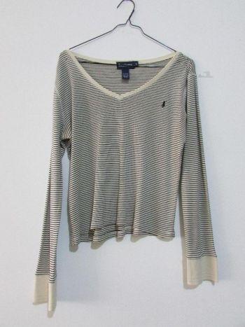 Suéter  blanco con azul