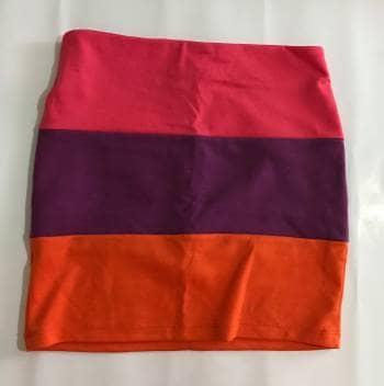Falda multicolor
