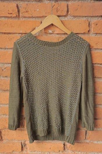 Suéter de punto verde militar