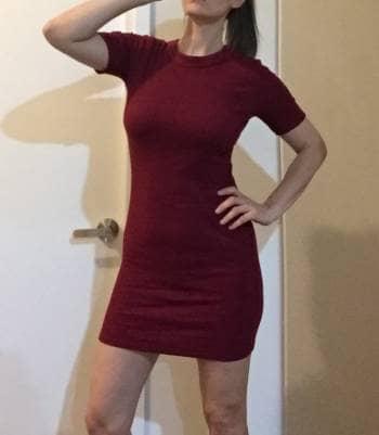 Gotrendier Pegado 1439727 Vestido Vino Color Xukzopi