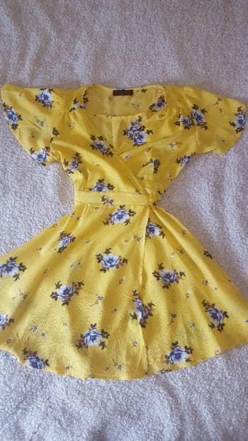 Vestido flores amarillo