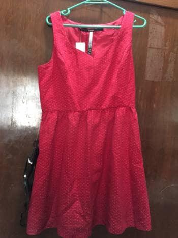 disponible precio de calle gama muy codiciada de Vestido rojo con puntos blancos - GoTrendier - 837477