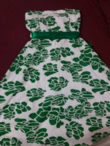 Vestido straple floreado