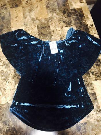 Blusa off shoulder velvet