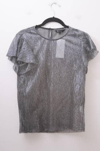 Blusa transparente metálica