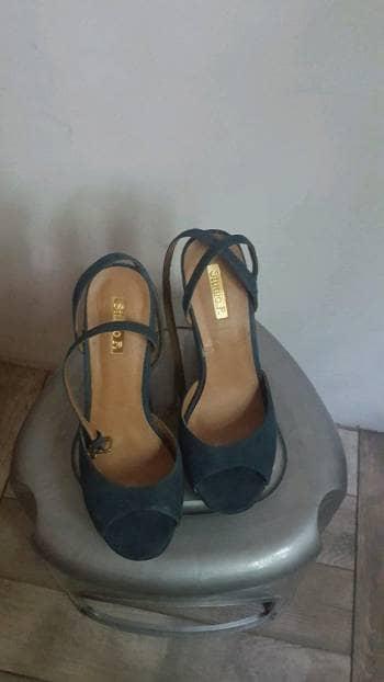 Sandalias azul verde