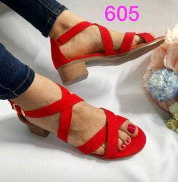 Huarachito 605 rojo