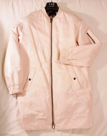 Pink banana bomber jacket