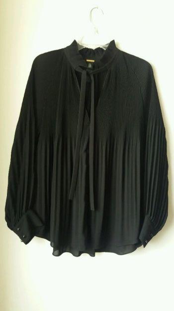Blusa negra de seda Chico's Black Label