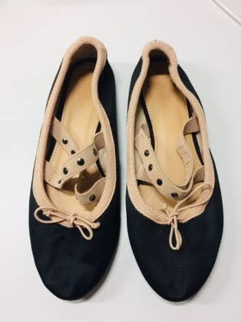 Flats satinados tipo ballerina
