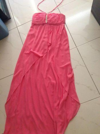 Vestido fiesta color rosa
