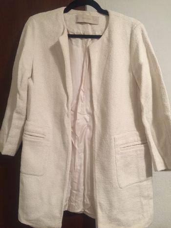 Abrigo blanco medias mangas