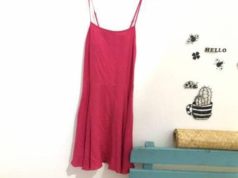 Vestido rosa bugambilia