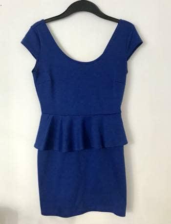 Vestido azul olán